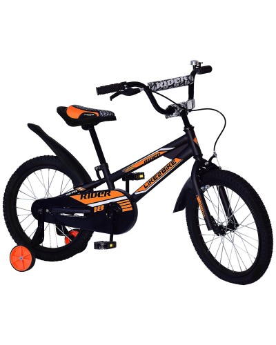 Велосипед детский 2-х колес.14'' 211405 Like2bike Rider, черный, рама сталь, со звонком, руч.тормоз