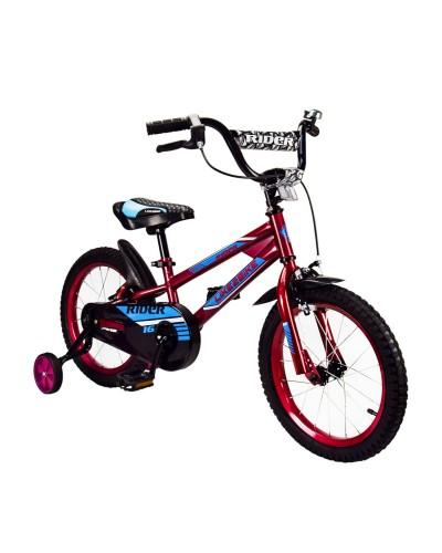 Велосипед детский 2-х колес.16'' 211606 Like2bike Rider, вишневый, рама сталь, со звонком, руч.тормо