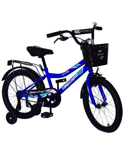 Велосипед детский 2-х колес.18'' 211815 Like2bike Archer, синий, рама сталь, со звонком, руч.тормоз