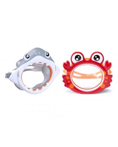"Маска 55915 ""Fun Masks"" поливинил, 2 вида (крабик,акула), (3-8лет)"