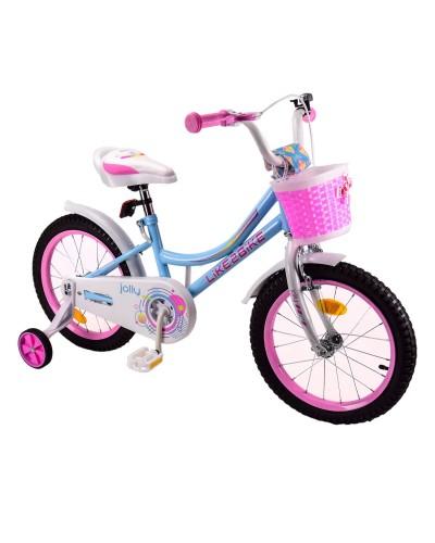 Велосипед детский 2-х колес.14'' 211408 Like2bike Jolly, голубой, рама сталь, со звонком, руч.тормоз