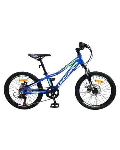 "Велосипед подростковый 2-х колёсн. 20"" A212002 LIKE2BIKE Energy, цвет синий, рама алюм.10"",6-с"
