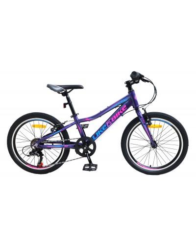 """Велосипед подростковый 2-х колёсн. 20"""" A212004 LIKE2BIKE Viva, цвет фиолетовый, рама алюм.10"""","""