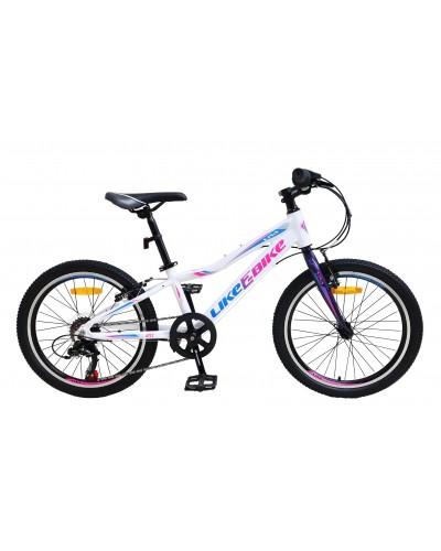 """Велосипед подростковый 2-х колёсн. 20"""" A212006 LIKE2BIKE Viva, цвет белый, рама алюм.10"""",6-ск,"""