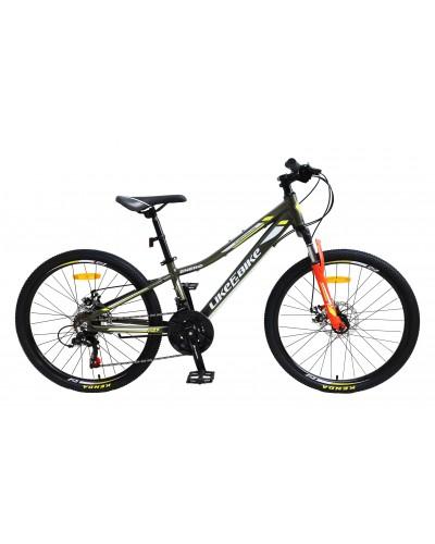 """Велосипед подростковый 2-х колёсн. 24"""" A212402 LIKE2BIKE Energy, цвет хакки матовый, рама алюм"""