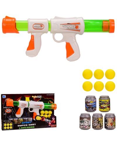 Оружие 166B-1 помповое с мишенями, 6 шаров в компл, в кор 39*5.5*25 см, р-р игрушки – 35*47 см