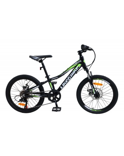 """Велосипед подростковый 2-х колёсн. 20"""" A212001 LIKE2BIKE Energy, цвет черный матовый, рама алю"""
