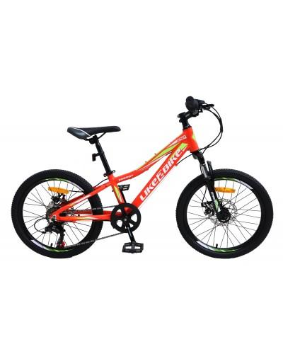 """Велосипед подростковый 2-х колёсн. 20"""" A212003 LIKE2BIKE Energy, цвет Оранжевый матовый, рама"""