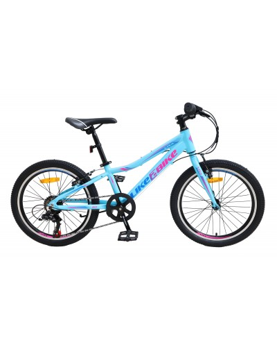 "Велосипед подростковый 2-х колёсн. 20"" A212005 LIKE2BIKE Viva, цвет голубой, рама алюм.10"",6-с"