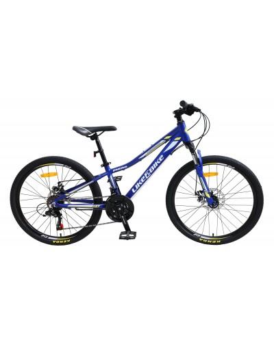 "Велосипед подростковый 2-х колёсн. 24"" A212401 LIKE2BIKE Energy, цвет синий матовый, рама алюм"