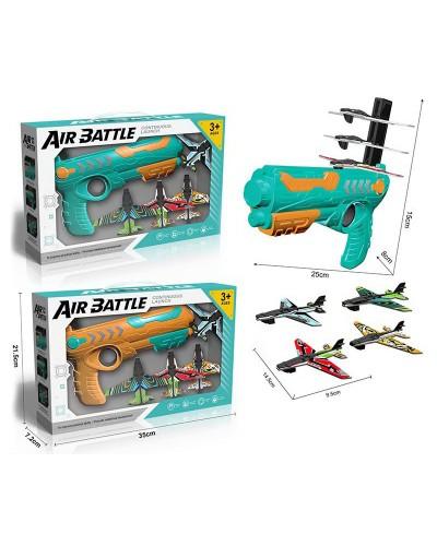 Игровой набор Air Battle 666 2 цвета, оружие и 4 самолета, в кор. 35*7,3*21,5см