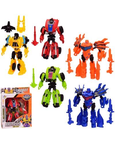 Трансформер HY-9966 5 видов, в кор. 19*5*21.5 см, р-р игрушки – 8*5*14 см