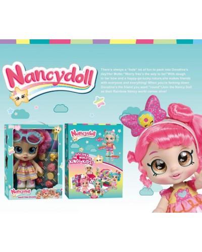 Игровой набор NANCY DOLLS NC2412 кукла Donatina Kindi Kids+пироженки в компл, 28см в кор 24