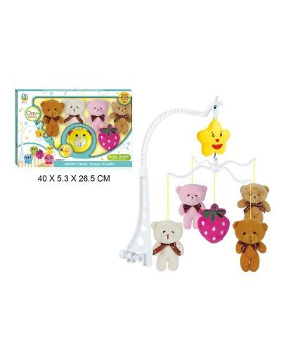 Мобиль 689-2/3/4 механич., 3 вида микс, мягк.игрушки, в коробке 40*5,3*26,5см