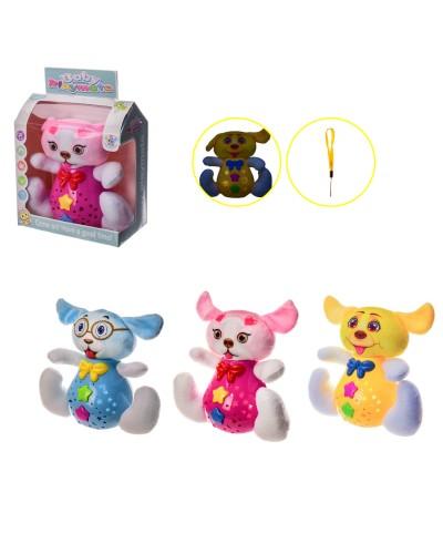 Муз.животное 5998 3 вида, батар., мелодии, в кор. – 18.5*10.5*21 см, р-р игрушки – 20*10*18
