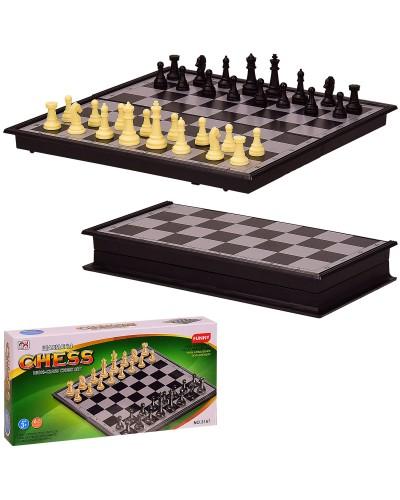 Шахматы 3157 в кор. 21*3*11 см, р-р доски – 21*21*1.5 см