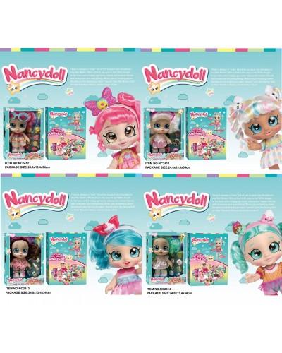 Игровой набор NANCY DOLLS NC2411/2/3/4 куклы пупсики Kindi Kids+пироженки в компл, 28см