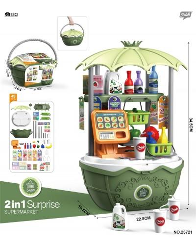 """Набор """"Магазин"""" 25721 касса, корзинка, продукты, в корзине 15,7*19,5*23,5 см"""