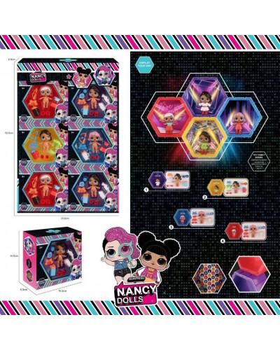 Игровой набор  NC2428 6 видов, в наборе куколка+аксессуары, в кор.