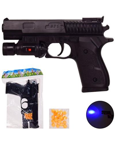 Пистолет SP1-C+ пульки, свет, в пакете – 15.5*22 см, р-р игрушки – 18 см