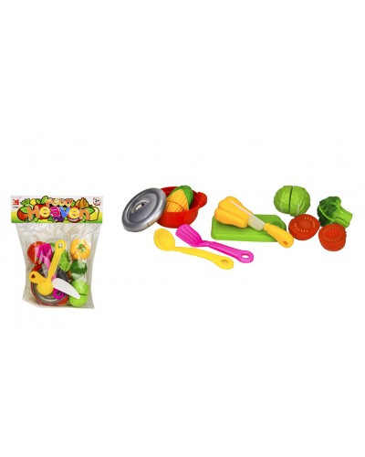 Набор продуктов 1261B продукты на липучках,посудка, в пакете 22*26 см