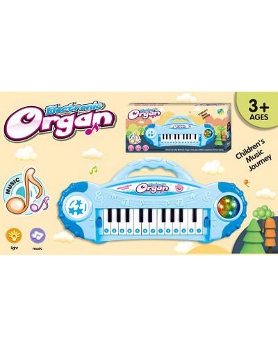 Орган 8012/8013 2 цвета микс, свет, муз, в коробке 35,5*16,5*5,5см