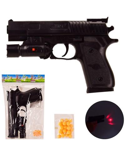 Пистолет SP1-E+ пульки,лазер,в пакете – 15.5*22 см, р-р игрушки – 19 см