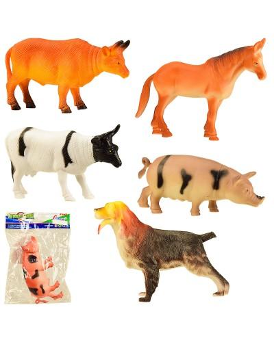 Животные H004/6 6 видов, один в пакете 13*18 см, р-р игрушки – 12 см