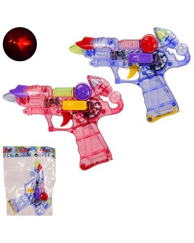 Пистолет 919B-24 2 цвета, свет, звук, в пакете 16*20.5 см, р-р игрушки – 16 см