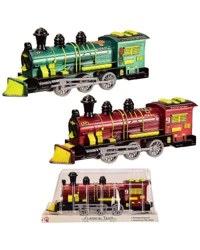 Поезд инерц. 538 2 цвета, под слюдой 25*7*11 см, р-р игрушки – 23.5*5*9.5 см