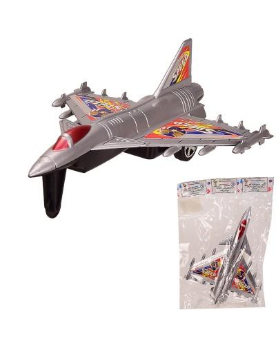 Самолет инерц. 058-9 в пакете – 20*25 см, р-р игрушки – 20*15*7 см