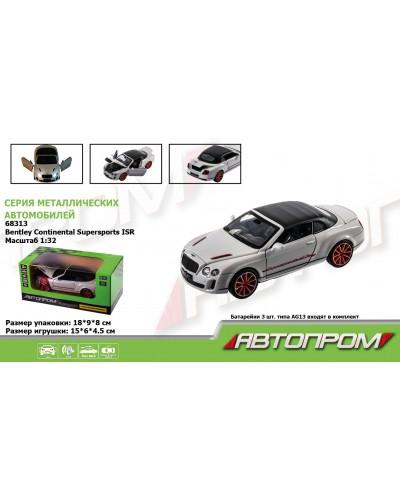 "Машина металл 68313 ""АВТОПРОМ"", 1:32 Bentley Continental Supersports ISR, батар, свет, звук, откр.дв"