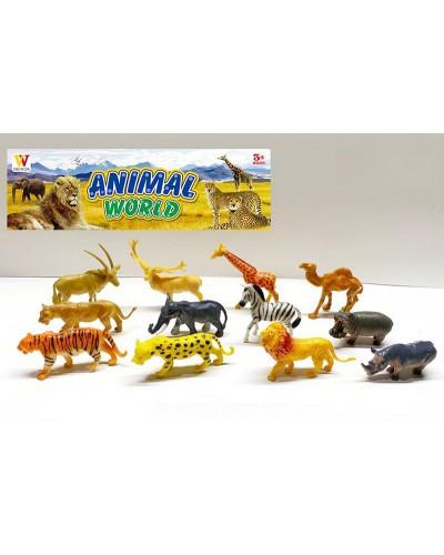 Животные пласт. 2066B дикие, 12 шт в наборе, в пакете 27,5*4*35см