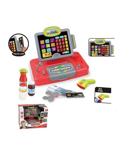 Кассовый аппарат 35558B свет-звук, сканер, калькулятор, микрофон, продукты, в кор.32*18,5*24 см