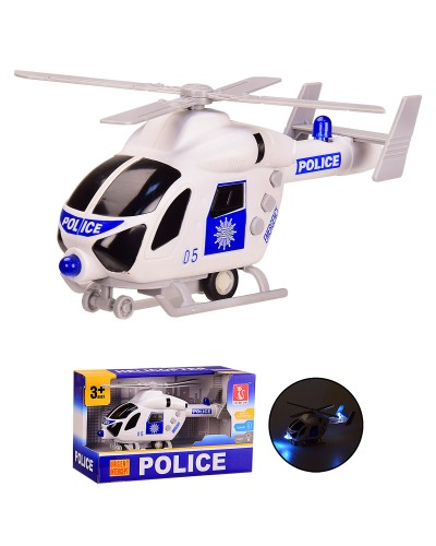 Вертолет J168-10 инерц, свет, звук, в кор. 22.5*10*13.5 см, р-р игрушки – 19.5*6*9.5 см