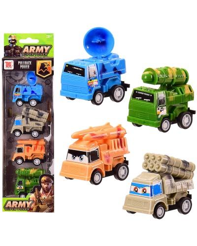 Набор транспорта инерц. Army DYB168-304 4 машинки в комплекте, в кор. 8*4.5*28 см, р-р игрушки – 5см