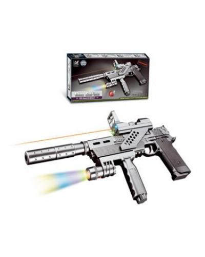 Пистолет-автомат 239C свет, лазер, пульки, в коробке 36*18*3,5см
