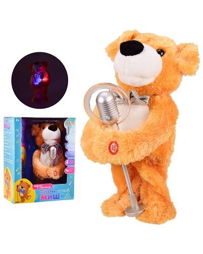 Интерактивное животное CL1676 медведь, поет и танцует, свет, в коробке 27*15*35 см, р-р игрушки – 32