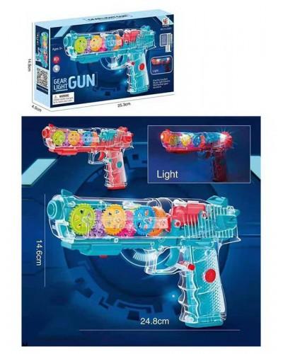 Пистолет YJ-Q001 2 цвета, свет, в кор. – 25*4.5*15 см, р-р игрушки – 25 см