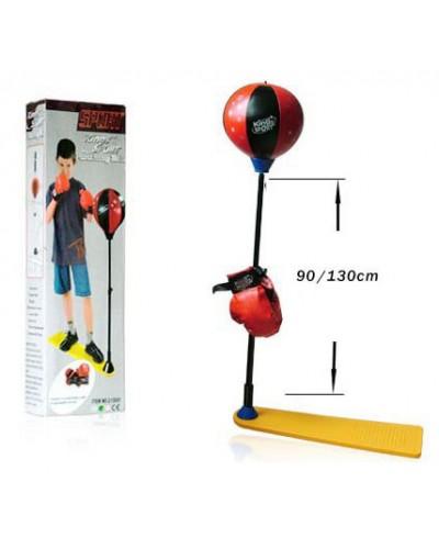 Боксерский набор BB115 надувная груша 20 см на стойке(90-130см), перчатки