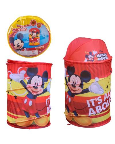 Корзина для игрушек D-3511 Mickey Mouse в сумке – 49*49*3 см, р-р игрушки – 43*43*60 см