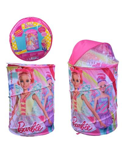 Корзина для игрушек D-3514 Barbie в сумке – 49*49*3 см, р-р игрушки – 43*43*60 см