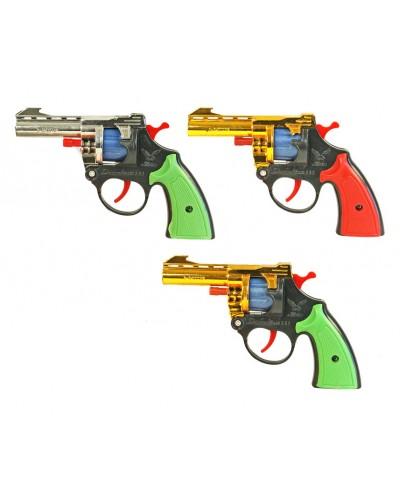 Пистолет под пистоны A2 3 цвета, в пакете 21*12*4см