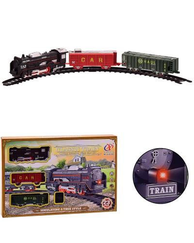 Железная дорога батар. JHX3305 23 элемента,свет, в кор. 36.5*4.5*24.5 см, р-р дороги – 91 см