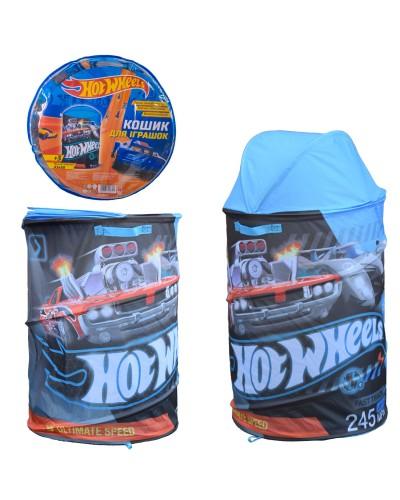 Корзина для игрушек D-3517 Hot Wheels в сумке – 49*49*3 см, р-р игрушки – 43*43*60 см