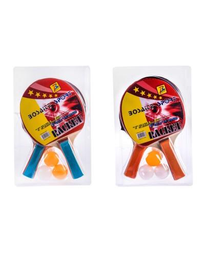 Теннис настольный  E33339 2 ракетки, 3 мячика, в слюде – 18.5*29 см, р-р игрушки – 25 см