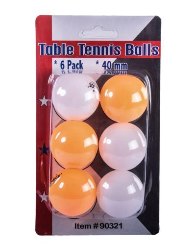 Теннисные мячики  E33348 6 шт на планшетке – 10.5*4*18.5 см, р-р игрушки – 40 мм (цена за 6шт)