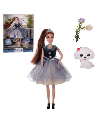 "Кукла ""Emily"" QJ102D с аксессуарами, в кор.– 28.5*6.5*36 см, р-р игрушки – 29 см"