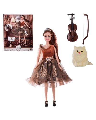 "Кукла ""Emily"" QJ106D с аксессуарами, в кор.– 28.5*6.5*36 см, р-р игрушки – 29 см"