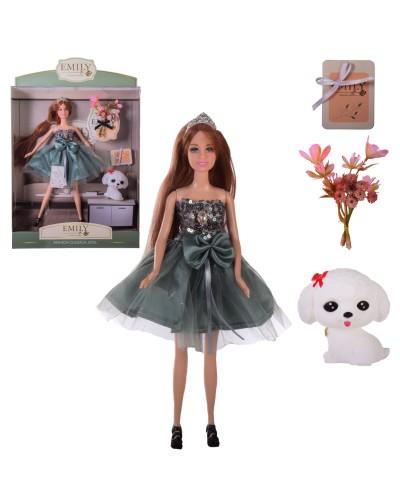 "Кукла ""Emily"" QJ110A с аксессуарами, в кор.– 28.5*6.5*36 см, р-р игрушки – 29 см"